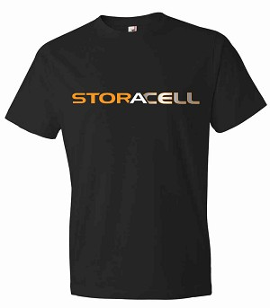 Storacell Men's Black Crew Neck T-shirt Small