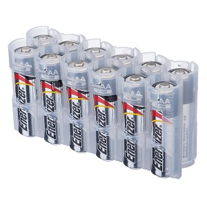 12AA Pack Battery Caddy (clear)