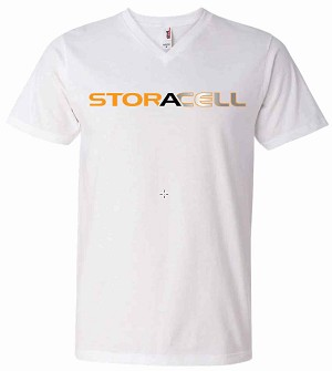 Storacell Women's White V-Neck T-shirt X-Large