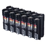 12AA Pack Battery Caddy (tuxedo black)